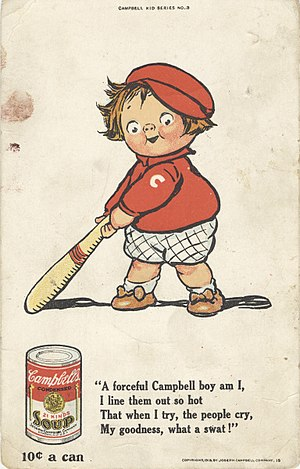 Soup - An advertisement for Campbell's canned soup, circa 1913