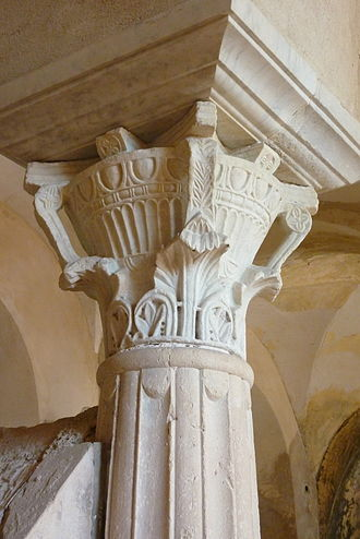 Jouarre Abbey - Capital of the crypt
