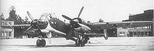 Junkers Ju 288 - Junkers 288B (Ju 288 V13, DB 606 engines) prototype