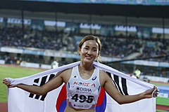 Jung Hyelim Of Korea (100 M H Gold Winner) 2017.jpg