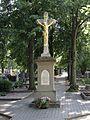 Křenovice (okres Vyškov) - kříž na hřbitově.jpg