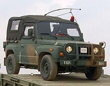 Un veicolo militare Kia KM420 dell'esercito Sud Coreano