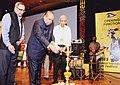 K. Sankaranarayanan lighting the lamp to inaugurate the 13th Mumbai International Film Festival for Documentary, Short and Animation (MIFF-2014), in Mumbai. The Secretary, Ministry of Information and Broadcasting.jpg
