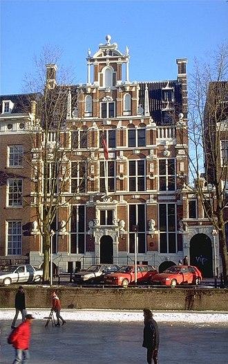Huis met de Hoofden - House with the Heads at Keizersgracht 123 in Amsterdam