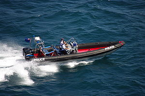 English: Royal Gibraltar Police Marine Section...