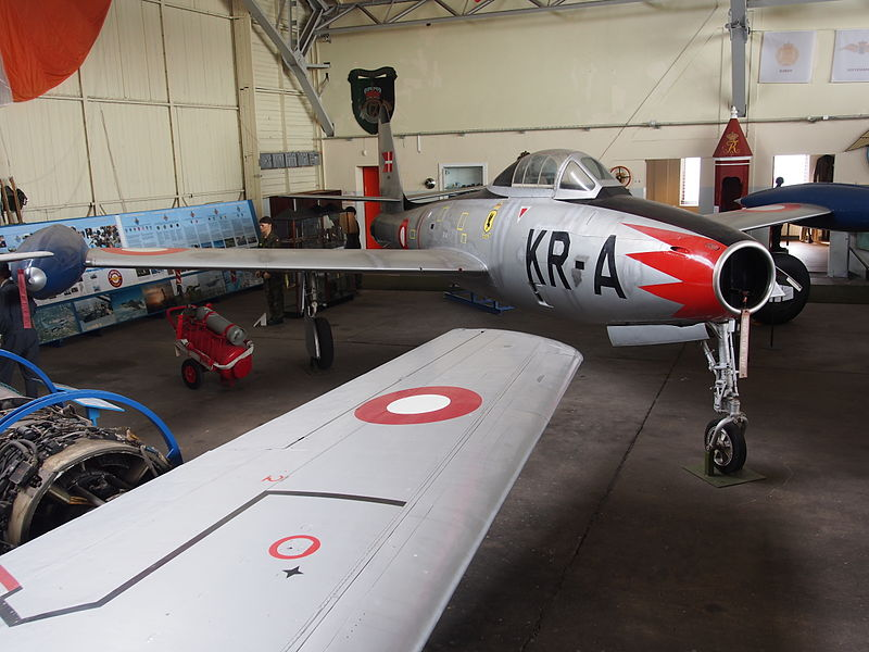 File:KR-A F-84 Thunderjet used by the Danish Air Force in Aalborg Forsvars- og Garnisonsmuseum, pic4.JPG