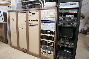 Transmitter - 35 kW, Continental 816R-5B FM transmitter, belonging to American FM radio station KWNR broadcasting on 95.5 MHz in Las Vegas