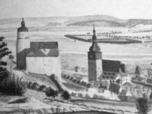 Hausmannsturm und Stadtkirche (1801)