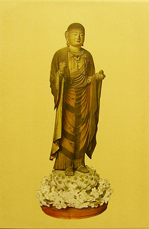 Kaikei - Kaikei, wood-colored Buddha