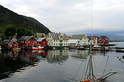 View of the village harbor