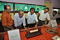 Kalyan Kumar Mukherjee And NCSM Personnel Examine Soshunograph - Jagadish Chandra Bose Museum - Bose Institute - Kolkata 2011-07-26 4064.JPG