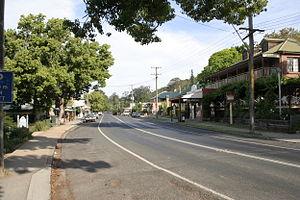 Kangaroo Valley, New South Wales - Main street of Kangaroo Valley, 2006