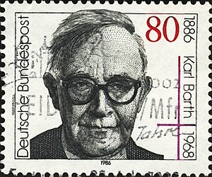 Karl Barth - Image: Karl Barth Briefmarke