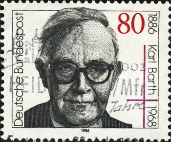 English: German stamp, showing Karl Barth. Deu...