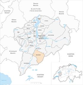Map of Grandvillard