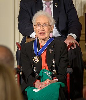 Katherine Johnson - Being awarded the Presidential Medal of Freedom in 2015