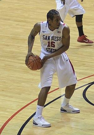 English: Kawhi Leonard playing for San Diego S...