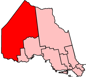 Kenora—Rainy River (provincial electoral district) - Kenora—Rainy River in relation to other electoral districts