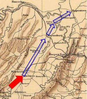 2nd West Virginia Volunteer Cavalry Regiment - The Army of West Virginia retreated north.