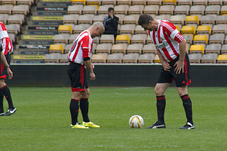 Niall Quinn - Quinn formed a prolific partnership with Kevin Phillips at Sunderland. Here, the pair are pictured playing in former team mate Jody Craddock's testimonial in 2014