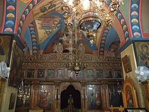 Feast of Saint George (Palestine) - Image: Khadir`s St.George church interior 2