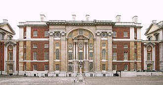 Nicholas Hawksmoor - King William Block (1699–1702), Greenwich Hospital, west facade.