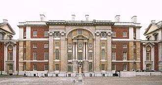 Nicholas Hawksmoor - King William Block (1699–1702), Greenwich Hospital, west facade.
