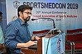 Kinsuk Biswas Delivering Lecture - Sports Yoga and Spirituality - SPORTSMEDCON 2019 - SSKM Hospital - Kolkata 2019-03-17 3502.JPG