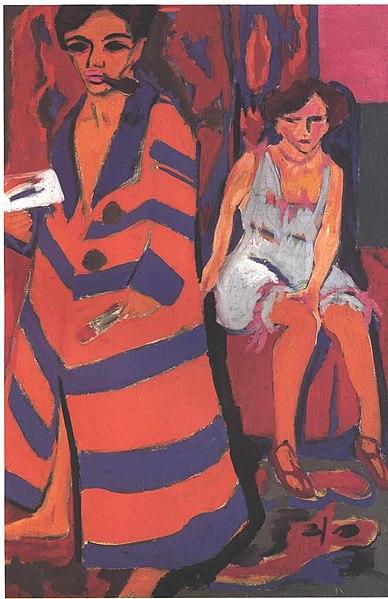 File:Kirchner - Selbstbildnis mit Modell.jpg