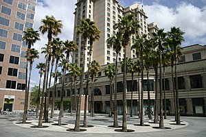 History of San Jose, California - The Circle of Palms in downtown San Jose today marks the historical site of California's first state capitol