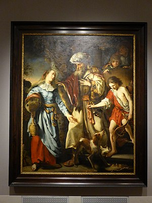 Abraham banishes Hagar and Ishmael