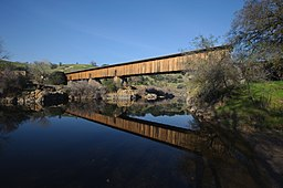 Knight's Ferry covered bridge, Stanislaus River, California.jpg