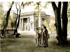 Hercules Pavilion - Painting by Exkersberg from 1809