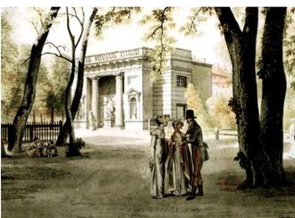 Hercules Pavilion - Painting by Exkersberg from 1809