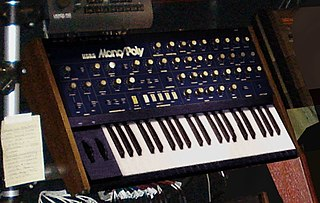 Korg Mono/Poly Analog synthesizer, manufactured by Korg from 1981 to 1984