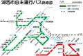 Kosai City Bus Route Map (2011-04).png