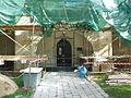 Kostel sv. Víta v Kostelci nad Labem oprava západní fasády.jpg