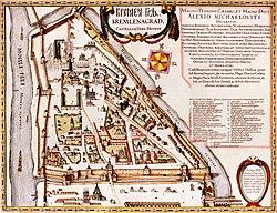 """Kremlenagrad"": the first detailed map of the Kremlin (ca. 1601)."