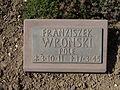 Kriegsopferfriedhof Kloster Arnsburg Grabstein Franziszek Wronski, Pole.JPG