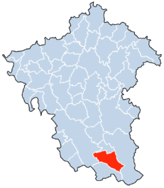 Location of Kruchten in the Verbandsgemeinde Neuerburg