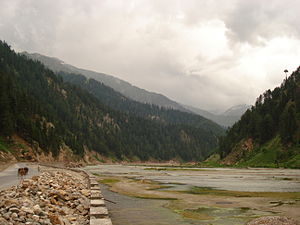 Kunhar River - Kunhar River in the Kaghan Valley, Khyber Pakhtunkhwa, Pakistan.