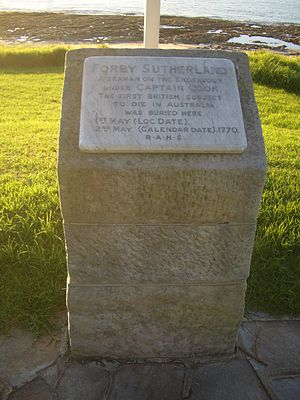 Forby Sutherland - Memorial Stone to Forby Sutherland