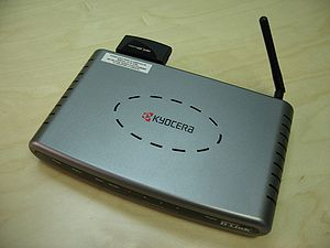 Our new Kyocera EVDO router -- for those long ...