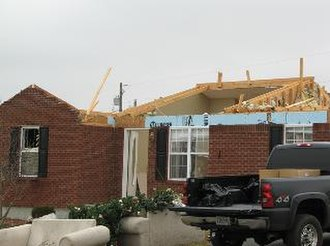 Tornado outbreak of January 2, 2006 - Tornado damage in Adair County, Kentucky.