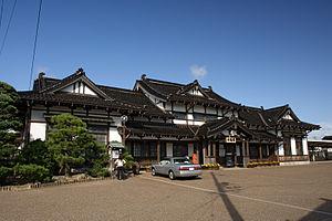 Taisha Line - Preserved Taisha Station building