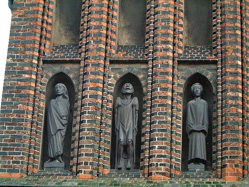 Lübeck-Detail der Fassade des Katharineums