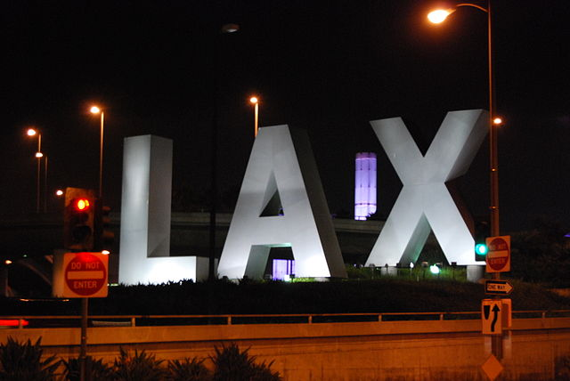LAX Airport Sign By Eddie Maloney from North Las Vegas, USA (LAX  Uploaded by russavia) [CC BY-SA 2.0 (https://creativecommons.org/licenses/by-sa/2.0)], via Wikimedia Commons