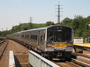 Atlantic Terminal - An M7 electric multiple unit of the type that was involved in the accident