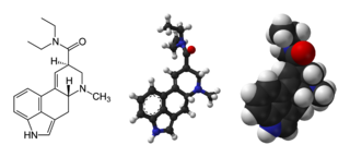 Lysergic acid diethylamide A hallucinogenic drug