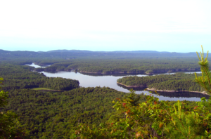 La Cloche Silhouette Trail - The view from the Hansen Township section of the trail in the La Cloche mountains.